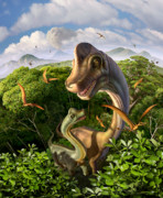 Mist Metal Prints - Ultrasaurus Metal Print by Jerry LoFaro