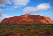 Monolith Metal Prints - Uluru Metal Print by Pamela Kelly Phillips