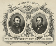 Campaign Photos - Ulyssess S Grant and Schuyler Colfax Republican Campaign Poster by International  Images