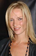 Donna Framed Prints - Uma Thurman At Arrivals For Donna Karan Framed Print by Everett