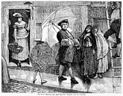 18th Century Prints - Umbrella, 18th Century Print by Granger