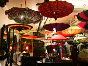 Store Fronts Prints - Umbrella Art Print by Kym Backland