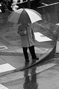 China Town Photo Metal Prints - Umbrella Day Metal Print by Aidan Moran