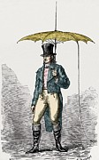 Benjamin Franklin Prints - Umbrella Fitted With Lightning Conductor Print by Sheila Terry