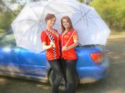 Subaru Rally Prints - Umbrella Models Print by Tobi Cooper