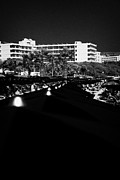 Agia Napa Prints - Umbrellla Sun Shades On Harbour Beach Ayia Napa Republic Of Cyprus Europe Print by Joe Fox