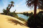 Desert Lake Posters - Umm Al-maa Lake, Ubari Sand Sea Poster by Axiom Photographic