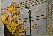 Stone Pony Painting Metal Prints - Umphreys Mcgee at the Stone Pony  Metal Print by Patricia Arroyo