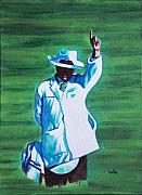 Cricket Paintings - Umpiring by Usha Shantharam