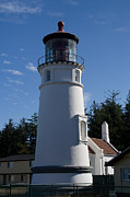 Umpqua River Prints - Umpqua River Lighthouse Print by Marilie Walker