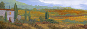 Landscape Art Acrylic Prints - un altro pomeriggio in Toscana Acrylic Print by Guido Borelli