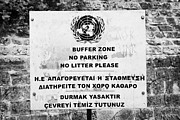 Stop Sign Photos - UN buffer zone no parking no litter sign in the green line dividing north and south cyprus nicosia by Joe Fox