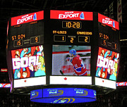 Montreal Canadiens Framed Prints - Un But de Saku Koivu ... Framed Print by Juergen Weiss