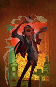 Featured Prints - Un Hombre Print by Nelson Dedos Garcia