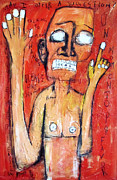 Neo Expressionism Paintings - Un Momento by Karl Haglund