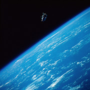 Space Exploration Art - Unattached Space Walk by Stocktrek Images