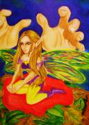 Fantasy Art - Unaware by Penny  Elliott
