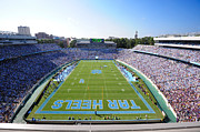Ncaa Framed Prints - UNC Kenan Stadium Endzone View Framed Print by Replay Photos