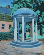 University Of Illinois Painting Originals - UNC Old Well by Tommy Midyette