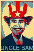 Barack Obama Digital Art Prints - Uncle Bam Pop Print by Teodoro De La Santa