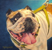 Tongue Art Painting Originals - Uncle Louie by Peggy Selander
