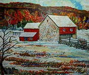 Farm Scenes Originals - Uncle Ottos Barn by Donald McGibbon