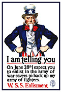 World War One Framed Prints - Uncle Sam -- I Am Telling You Framed Print by War Is Hell Store