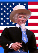 Flag Sculptures - Uncle Sam 4 by David Wiles