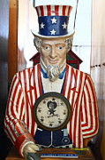 Coin Prints - Uncle Sam At The Musee Mecanique At Fishermans Wharf . San Francisco CA . 7D14405 Print by Wingsdomain Art and Photography