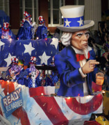 Highsmith Prints - Uncle Sam Float at Mardi Gras - New Orleans Louisiana  Print by Carol M Highsmith