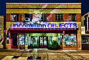 Antiques Prints - Uncommon Objects at Night Print by John Maffei