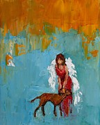 Angel Paintings - Unconditional Love by Judy Mackey