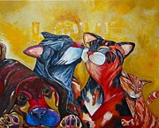 Animals Love Paintings - Unconditional Love by Patti Schermerhorn