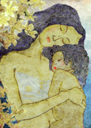 Parents Mixed Media Originals - Unconditional love by Shakila Malavige