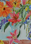 Gerbera Daisy Paintings - Uncontainable by Beverley Harper Tinsley
