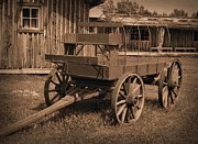 Heavy Horse Digital Art Posters - Uncovered Wagon Poster by Garry Staranchuk