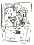 Art Brut Drawings - Undecided by Robert Wolverton Jr