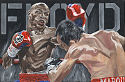 Floyd Mayweather Jr. Posters - Undefeated Poster by David Courson