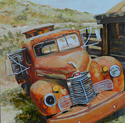 International Harvester Truck Paintings - Under A Big Sky by Alicia Drakiotes