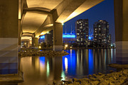 Cambie Bridge Framed Prints - Under Da Bridge Framed Print by Mirco Millaire