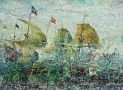 Sarah Vernon Metal Prints - Under Full Sail Two Metal Print by Sarah Vernon