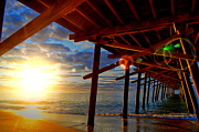 Beach Scenes Photos - Under Pier by Emily Stauring