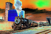 Steam Locomotives Digital Art Posters - Under Steam - SE Poster by Paul W Faust -  Impressions of Light