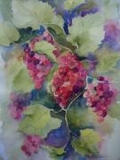 Grapes Painting Posters - Under the Arbor Poster by Sandra Strohschein