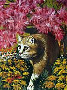 Original Acrylic Paintings - Under the Azaleas by Karon Melillo DeVega