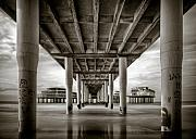 Metallic Prints Framed Prints - Under the Boardwalk Framed Print by David Bowman
