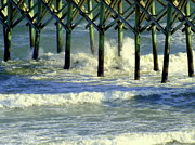 Seafoam Prints - Under the Boardwalk Print by Karen Wiles