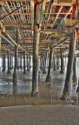 Under The Ocean Originals - Under the Boardwalk pier Sunbeams  by David  Zanzinger