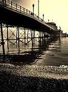 Amusements Prints - Under The Boardwalk Print by Sarah Clark