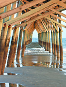 Beach Scene Photos - Under the Boardwalk by Suzanne Gaff
